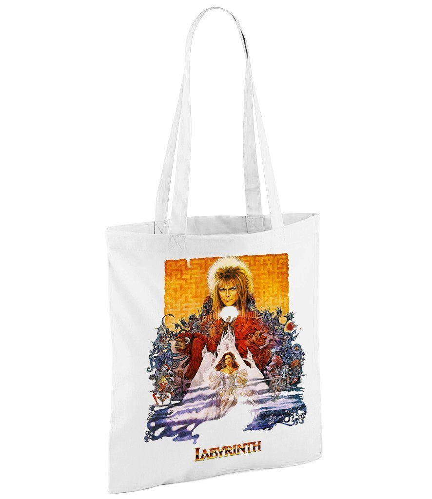 Labyrinth - White Shopper Bag