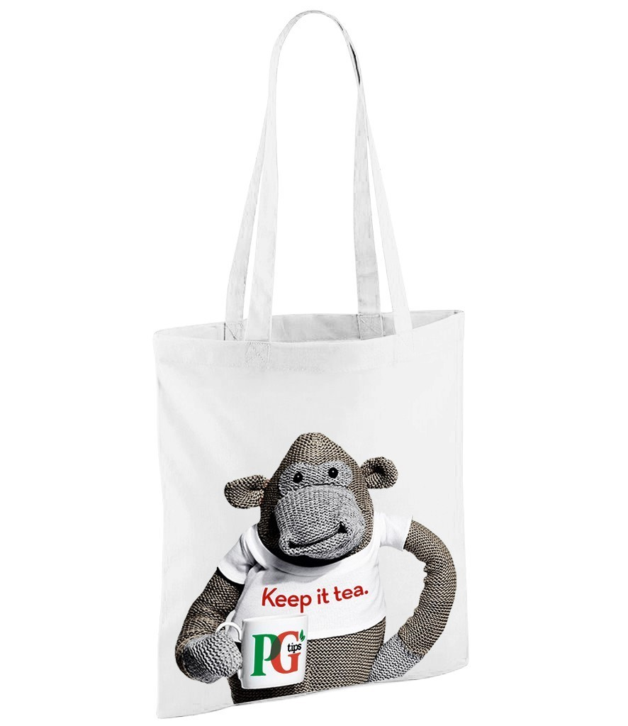 PG Tips Monkey - White Shopper Bag