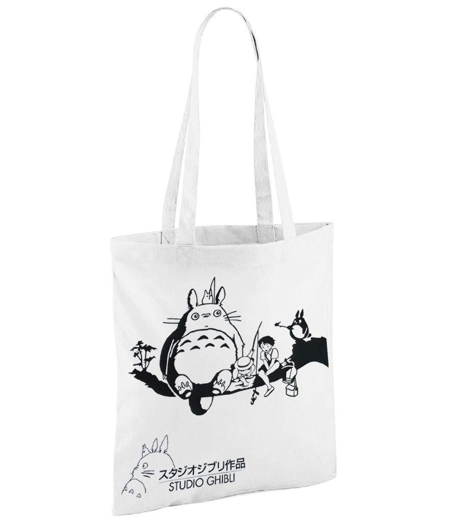 "Studio Gibley ""My Neighbour Totoro"" Version 1 - White Shopper Bag"