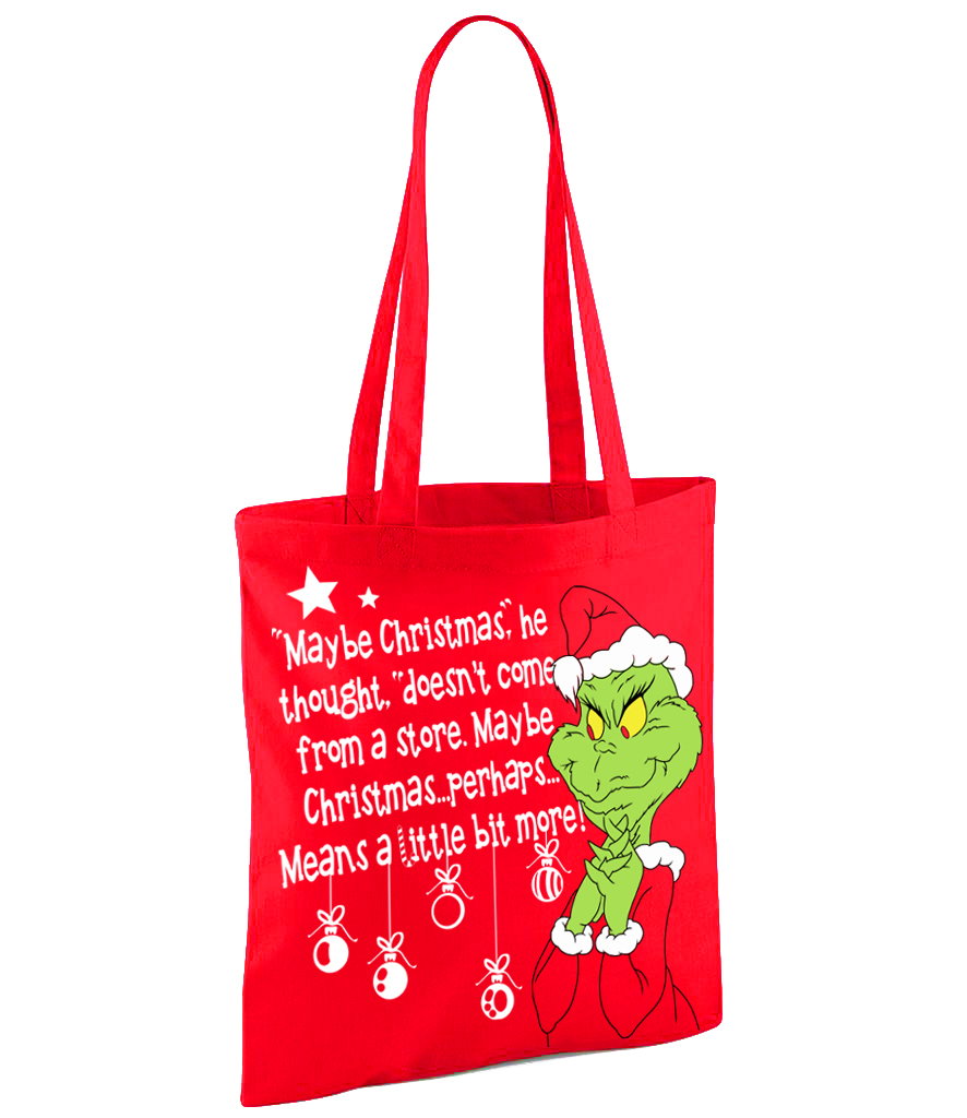 Grinch Who Stole Christmas - Red Shopper Bag