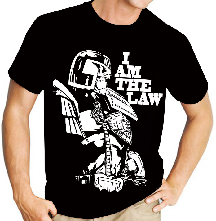 "Judge Dredd ""I am the Law"" (2000AD) Graphic Novel - Mens Black Tee Shirt"