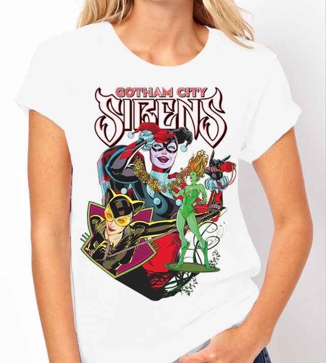 Gotham City Sirens - Ladies White Tee Shirt