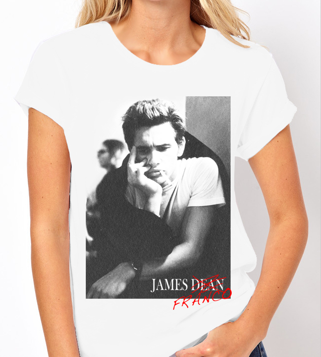 James Franco (James Dean) - Ladies White Tee Shirt