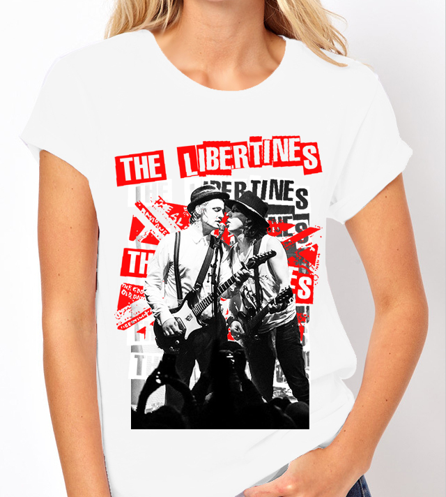 Libertines (Pete Docherty) - Ladies White Tee Shirt