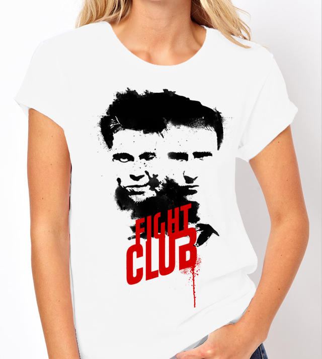 Fight Club (Edward Norton / Brad Pitt) - Ladies Tee Shirt