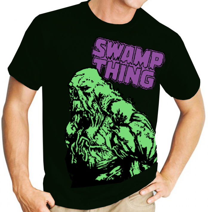 Swamp Thing (DC Comics) - Mens Black Tee Shirt