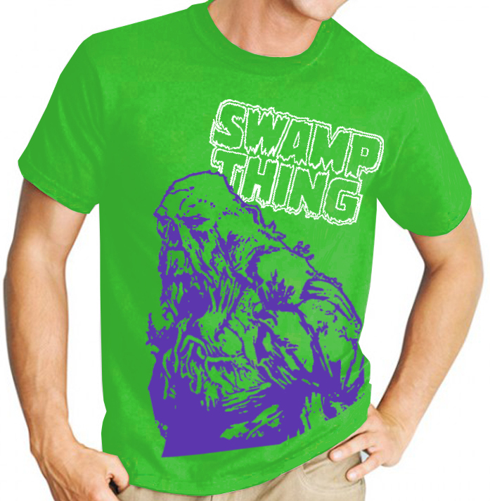 Swamp Thing (DC Comics) - Mens Green Tee Shirt