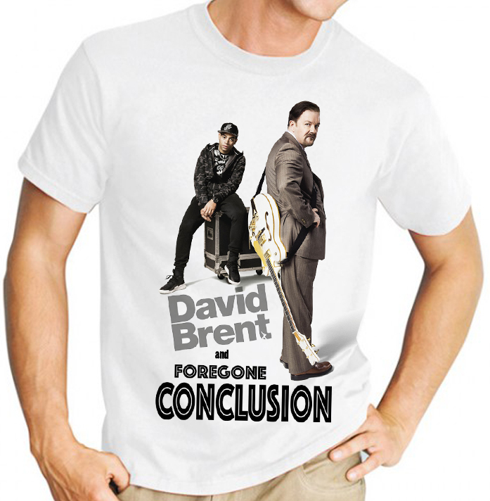 "David Brent ""Foregone Conclusion""  - Mens White Tee Shirt"