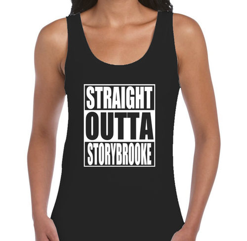 "Once Upon A Time ""Straight Outta Storybrooke"" - Ladies Black Vest"