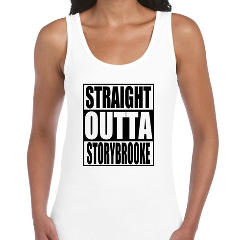 "Once Upon A Time ""Straight Outta Storybrooke"" - Ladies White Vest"