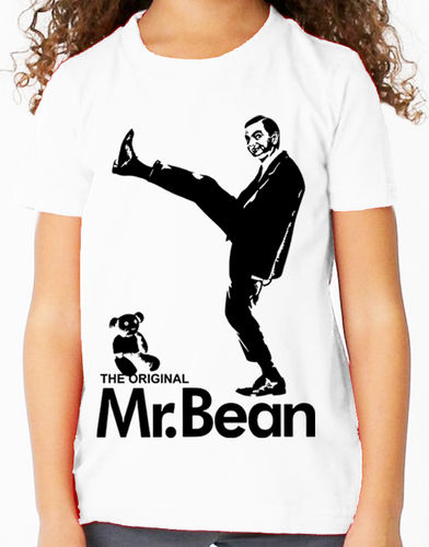 Mr Bean Television Comedy (Rowan Atkinson) - Childs White Tee Shirt