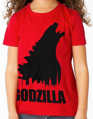 "Classic Movie ""Godzilla"" - Childs Red Tee Shirt"