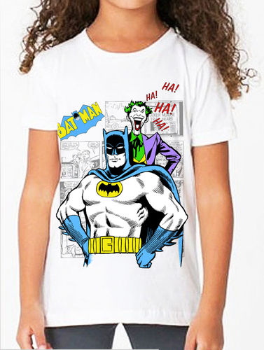 Classic Batman and Joker Comic Book Graphic Novel - Childs Tee Shirt