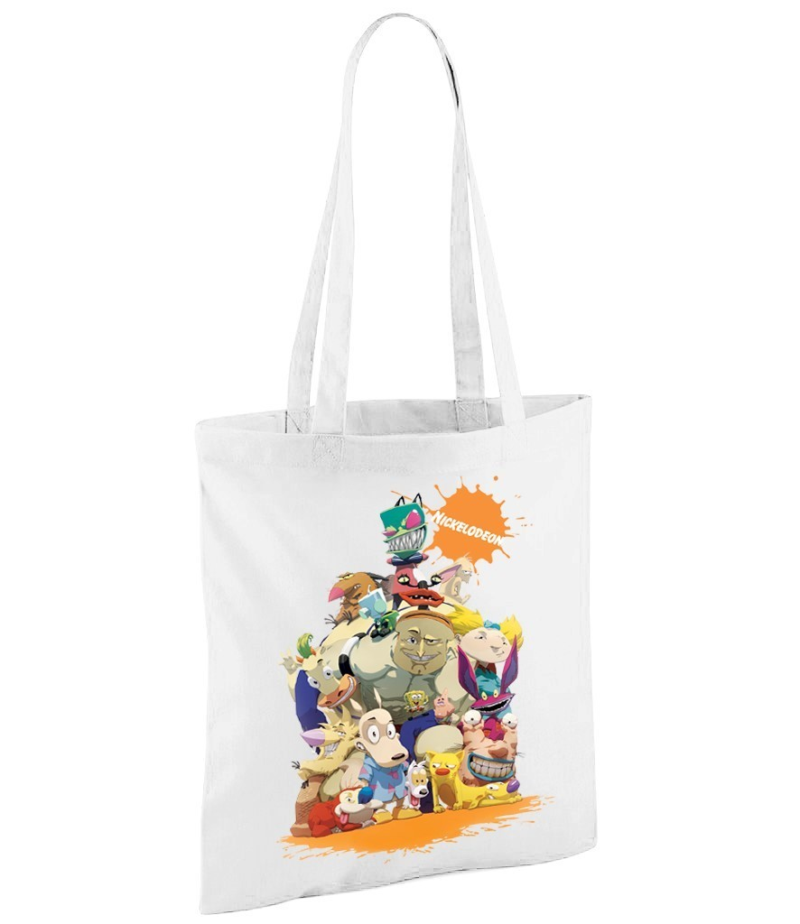Nickelodeon Characters - White Shopper Bag