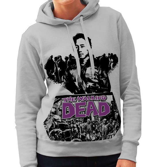 "Walking Dead ""Glen"" Plain Backed - Ladies Grey Hoodie"