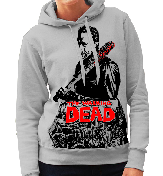 "Walking Dead ""Negan"" - Ladies Grey Hoodie"