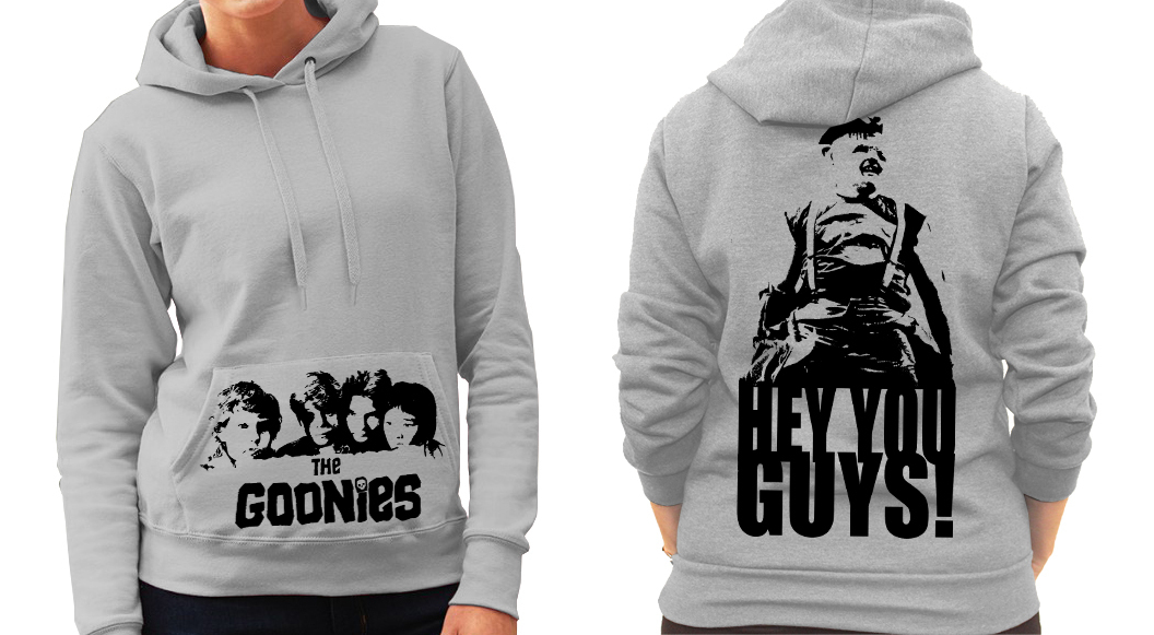 The Goonies (Spielberg) Hey you guys! - Ladies Grey Hoodie