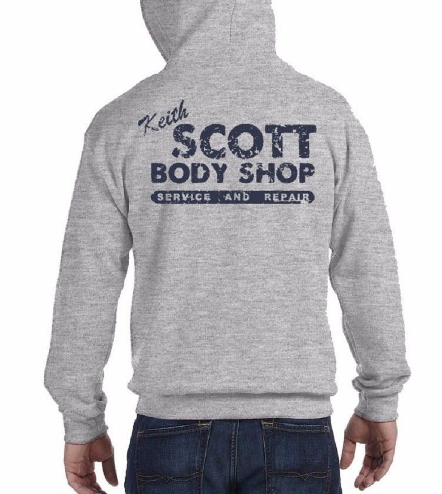 Keith Scott Body Shop (One Tree Hill) - Mens Grey Hoodie