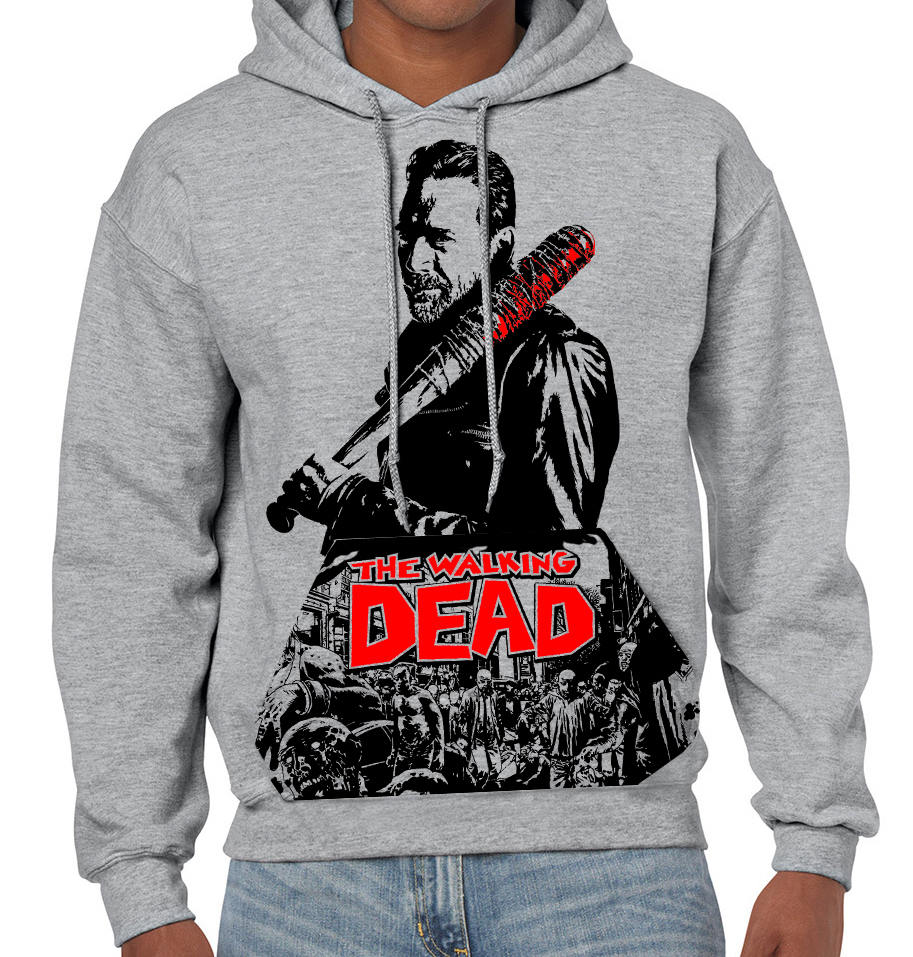 "Walking Dead ""Negan"" - Mens Grey Hoodie"