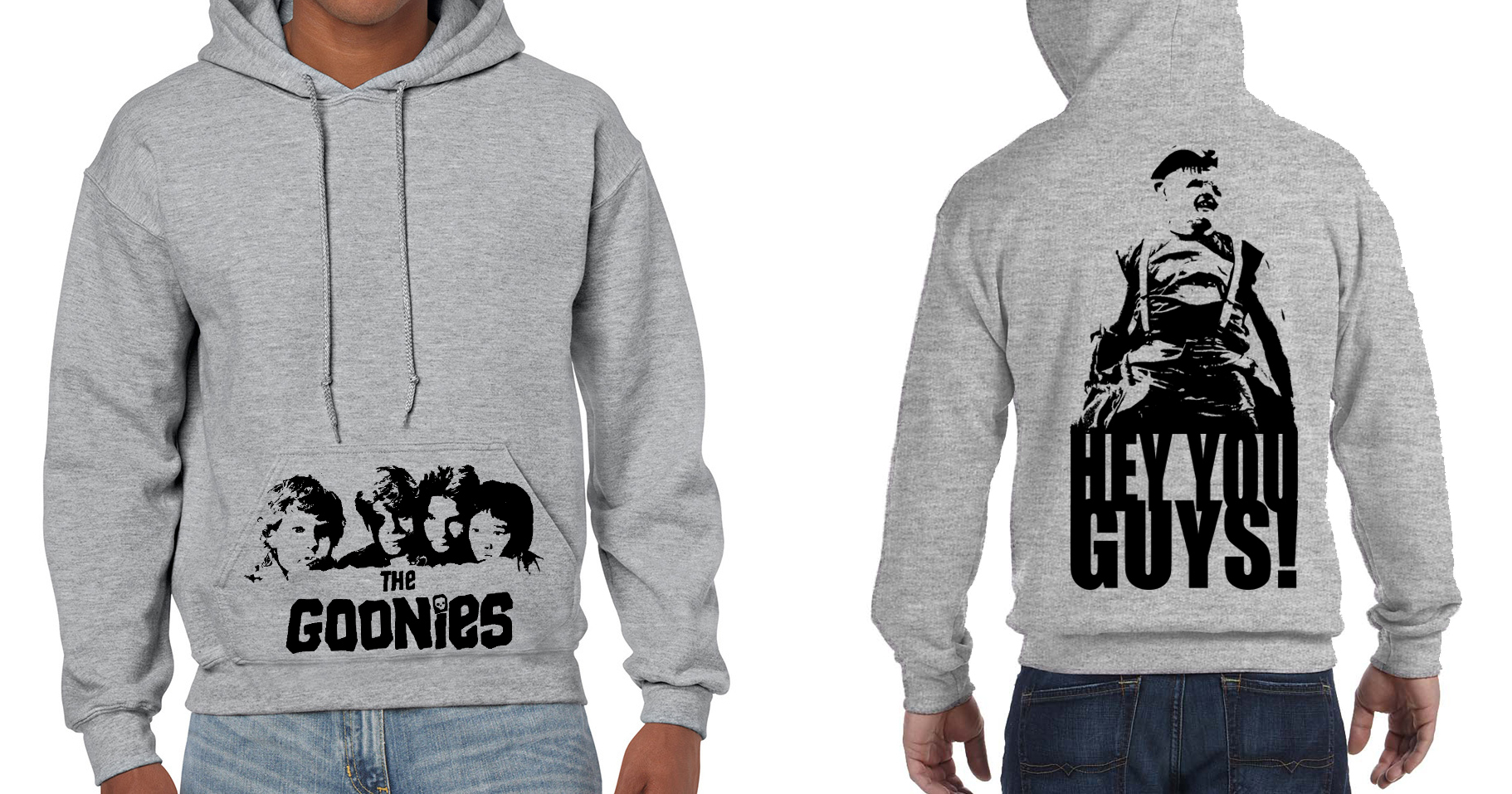 The Goonies (Spielberg) Hey you guys! - Mens Grey Hoodie