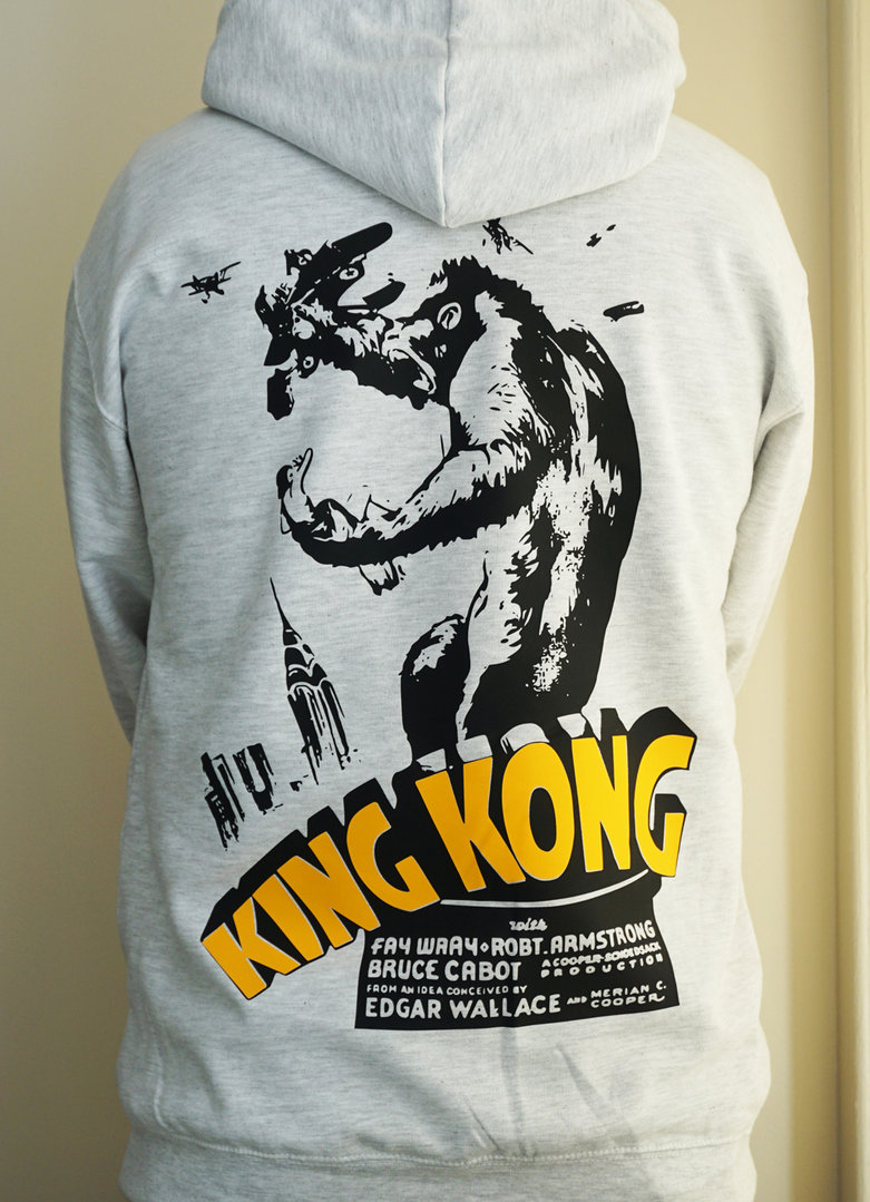 "Classic Movie ""King Kong"" - Mens Grey Hoodie"