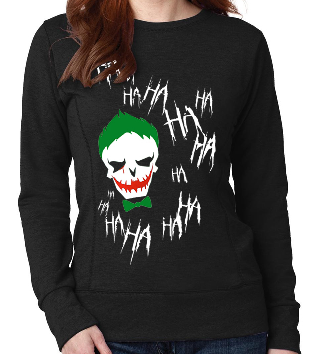 "Suicide Squad ""Joker"" - Ladies Black Sweatshirt"