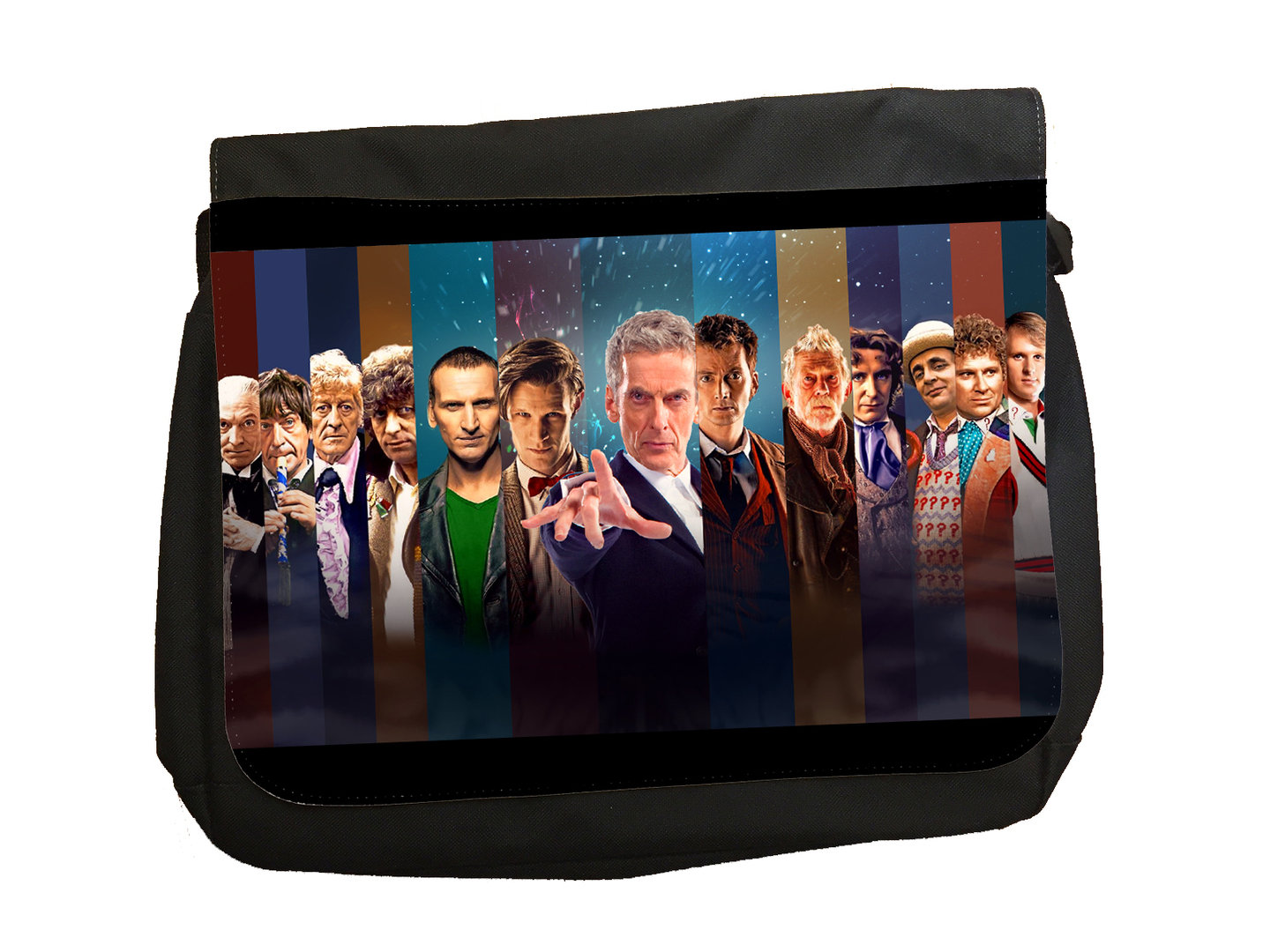 "Dr Who ""The Doctors"" Classic TV - Messenger Bag"