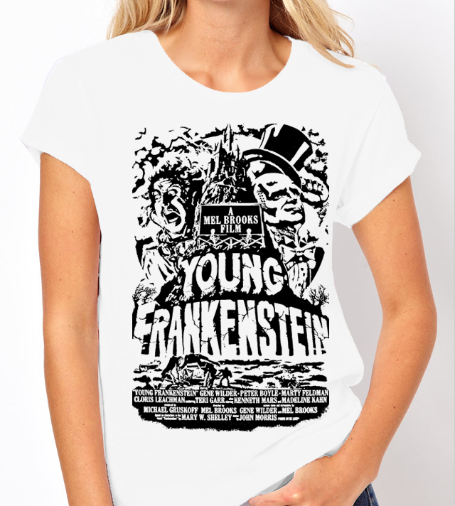 "Mel Brooks ""Young Frankenstein"" - 2 Colour Variations - Ladies Tee Shirt"