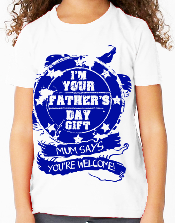 Your Fathers Day Gift in Purple Design - Childs Tee Shirt