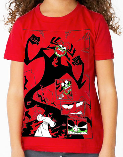 Samurai Jack - Childs Red Tee Shirt