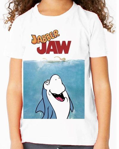 Hanna Barbera Jabber Jaw as Jaws - Childs White Tee Shirt