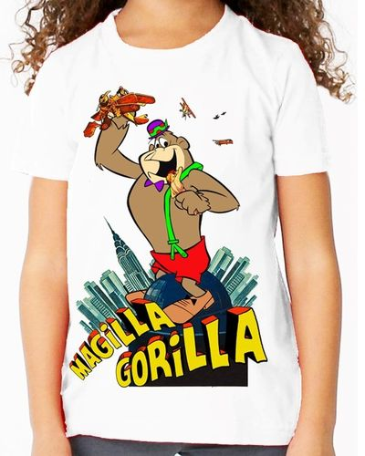 Hanna Barbera Magilla Gorilla as King Kong - Childs White Tee Shirt