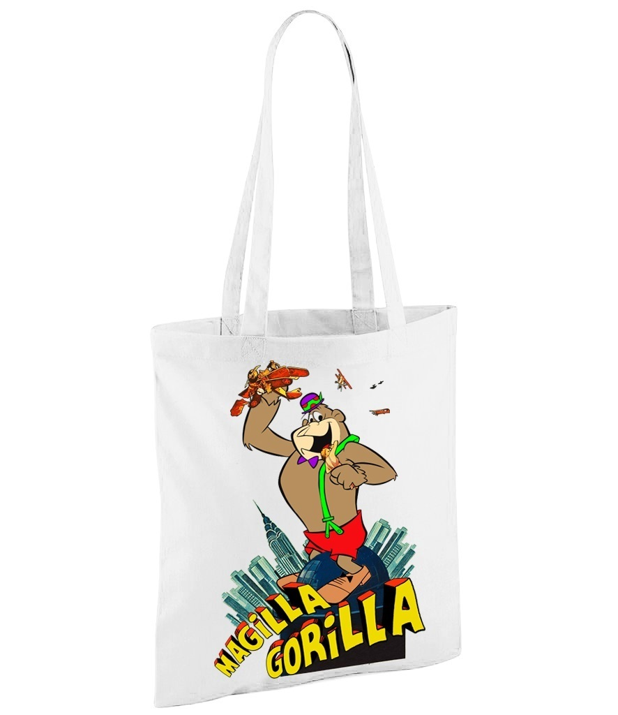 Hanna Barbera Magilla Gorilla as King Kong - White Shopper Bag