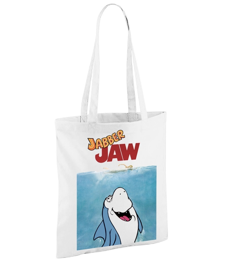 Hanna Barbera Jabber Jaw as Jaws - White Shopper Bag