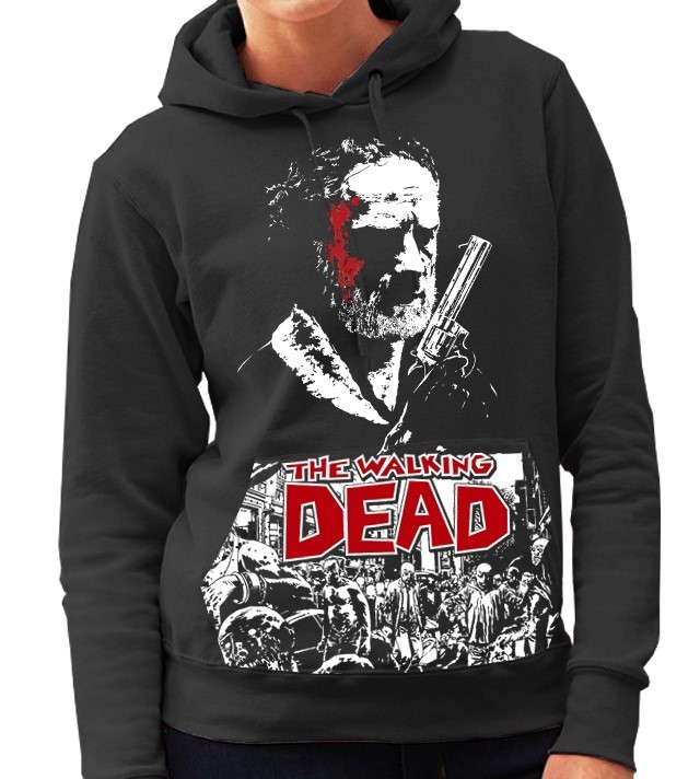 "AMC's The Walking Dead TV Show ""Rick Grimes"" - Ladies Black Hoodie"