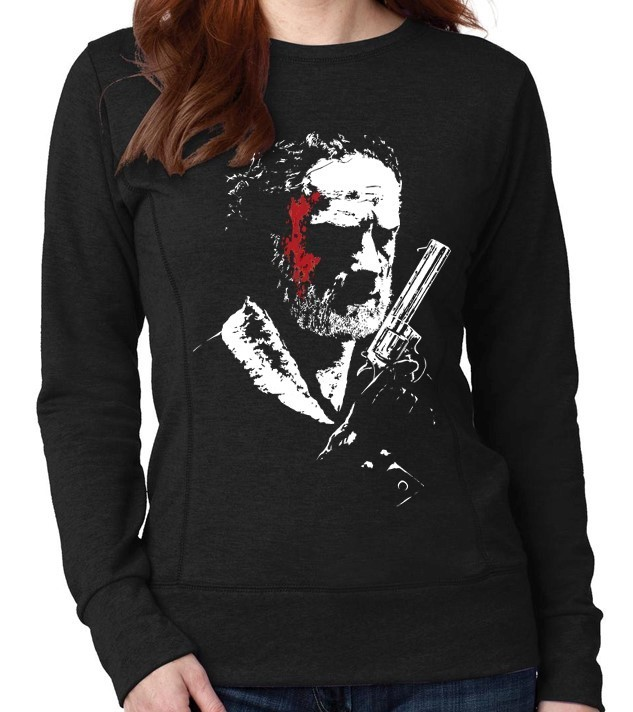 "AMC's The Walking Dead TV Show ""Rick Grimes"" - Ladies Black Sweatshirt"
