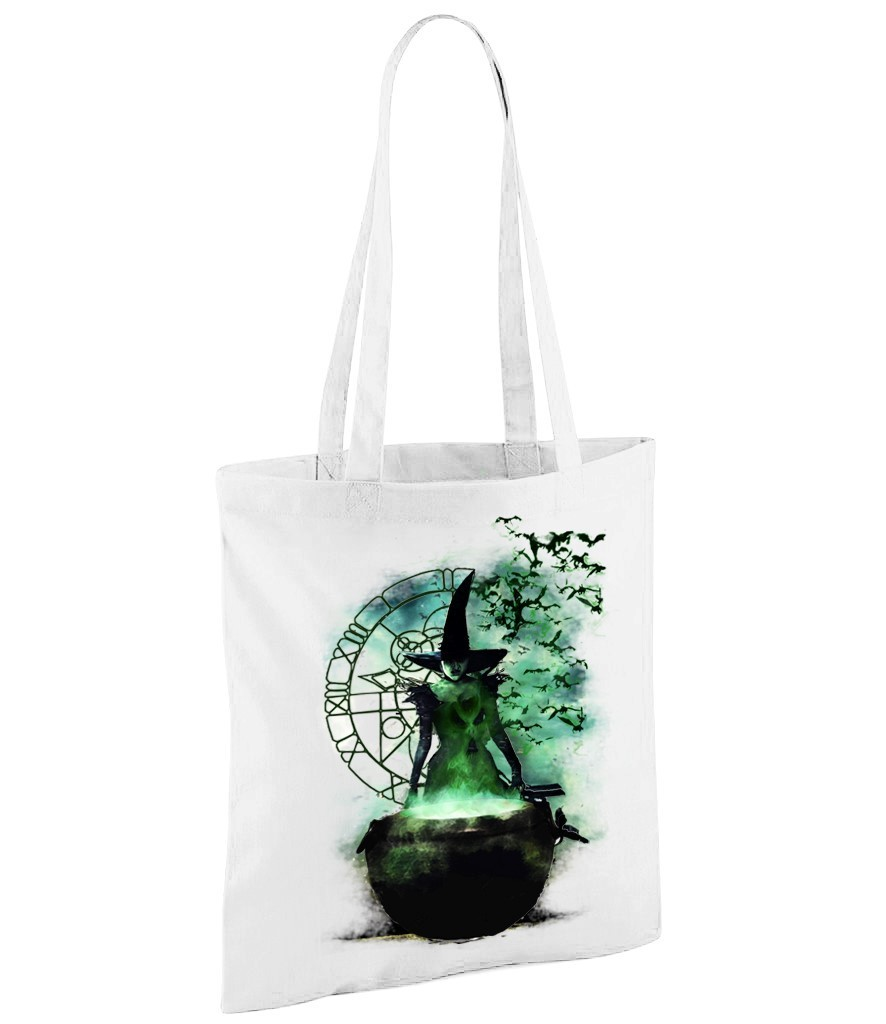 "Elphaba: Wizard of Oz - ""Wicked"" - White Shopper Bag"