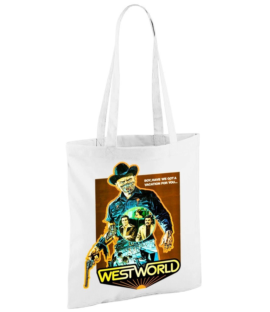 "Classic Movie ""Westworld"" - White Shopper Bag"