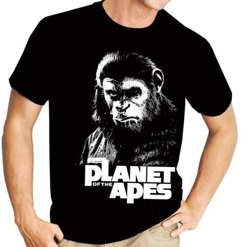 """Planet of the Apes"" Cult Movie - Mens Black Tee Shirt"