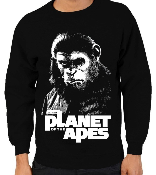 """Planet of the Apes"" Cult Movie - Mens Black Sweatshirt"