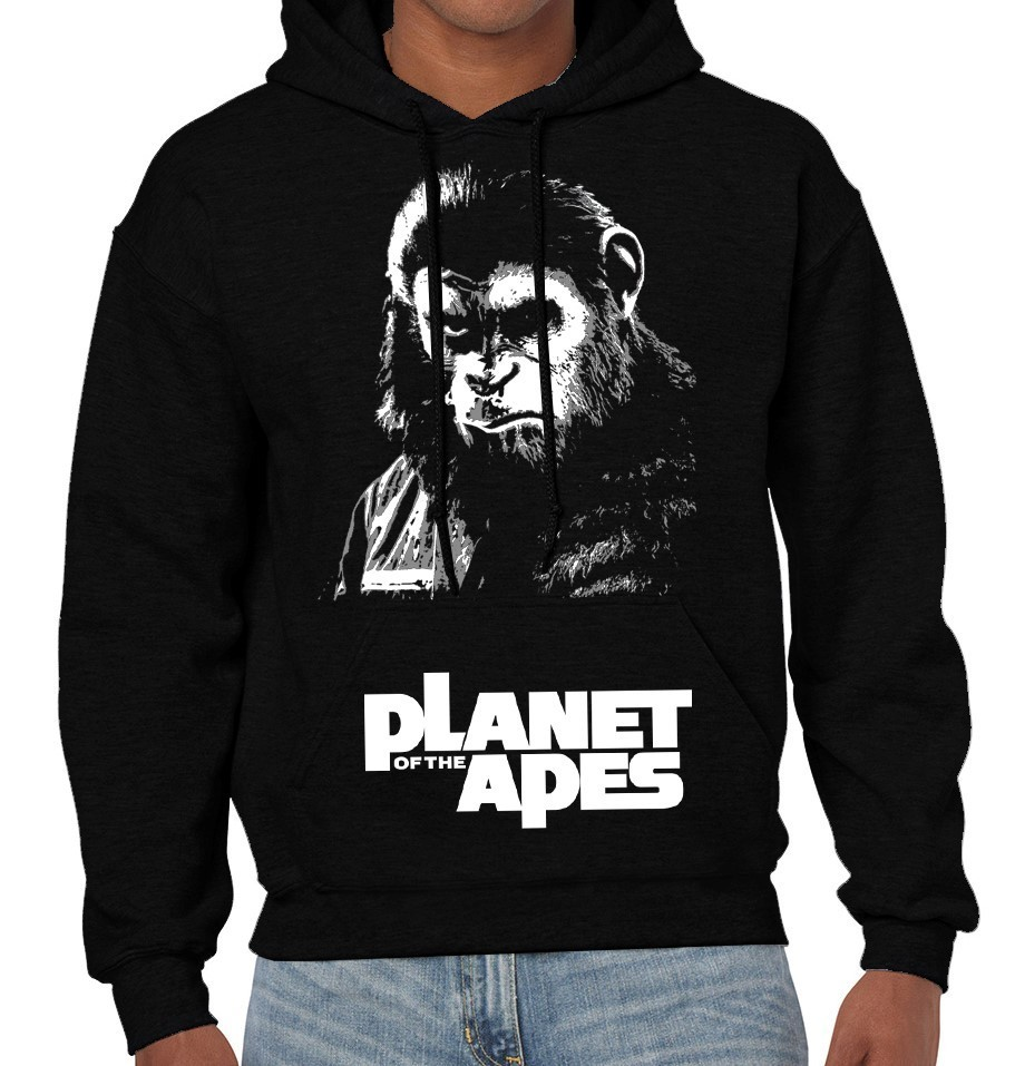 """Planet of the Apes"" Cult Movie - Mens Black  Hoodie"