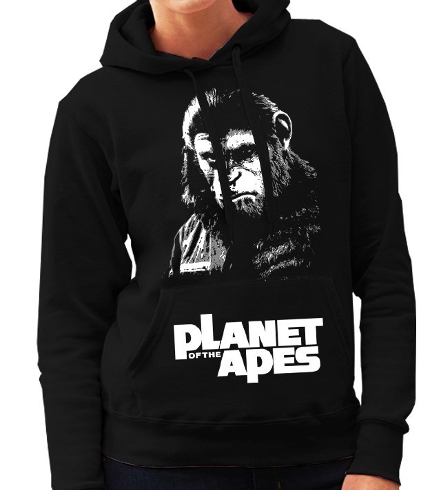 """Planet of the Apes"" Cult Movie - Ladies Black Hoodie"