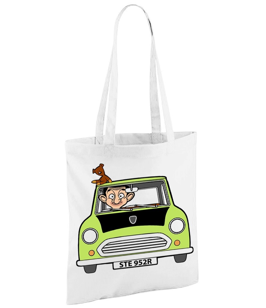 Mr Bean - Version 1 - White Shopper Bag
