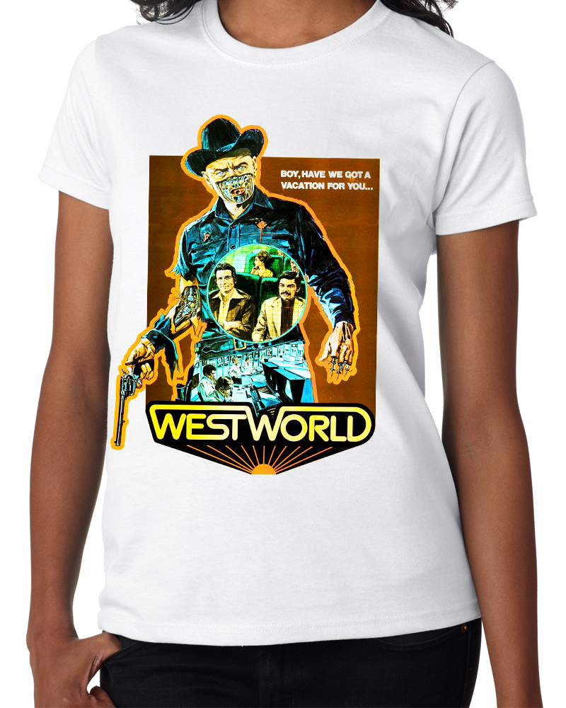 "Classic Movie ""Westworld"" - Ladies White Tee Shirt"