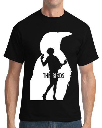 "Alfred Hitchcock ""The Birds"" - Mens Black Tee Shirt"