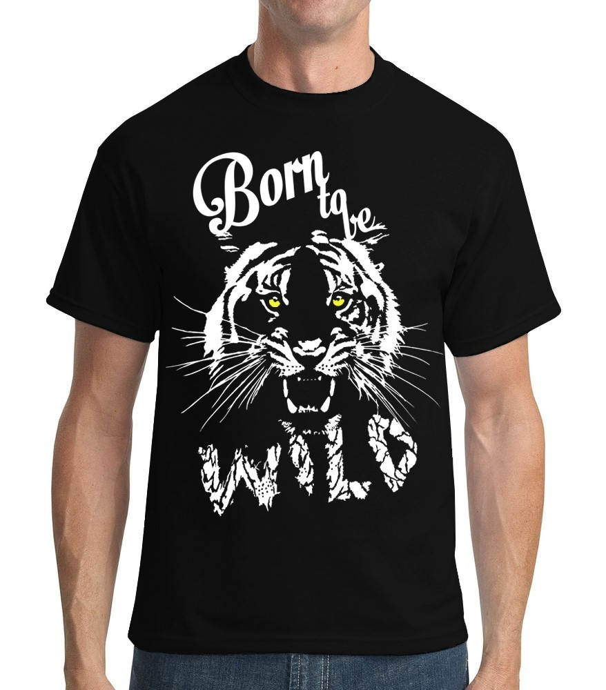 Born to be Wild - Mens Black Tee Shirt