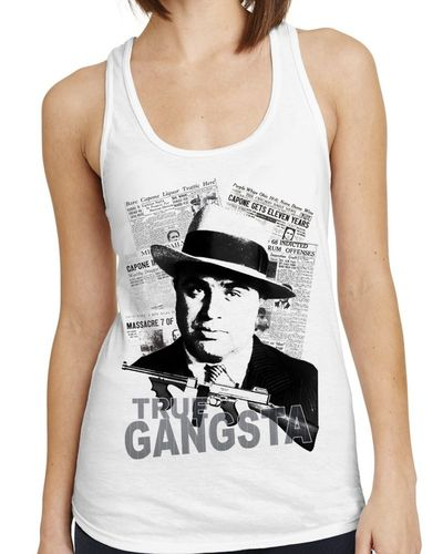Al Capone Gansta - Ladies White Vest