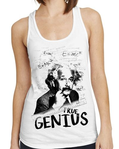 Albert Einstein e=MC2 - Ladies White Vest