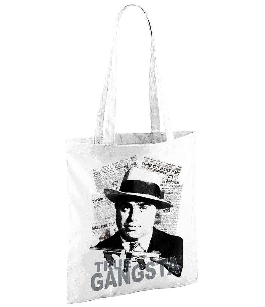 Al Capone Gansta - White Shopper Bag