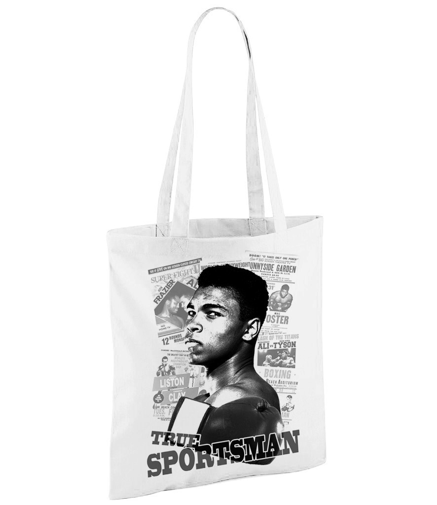 Muhammad Ali - White Shopper Bag